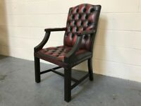 Oxblood Leather Chesterfield Gainsborough Desk Chair