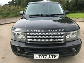 Great Value 2007 Range Rover Sport 3.6 HSE Auto Upgraded Black Alloy Full Service History NOV 18 MOT