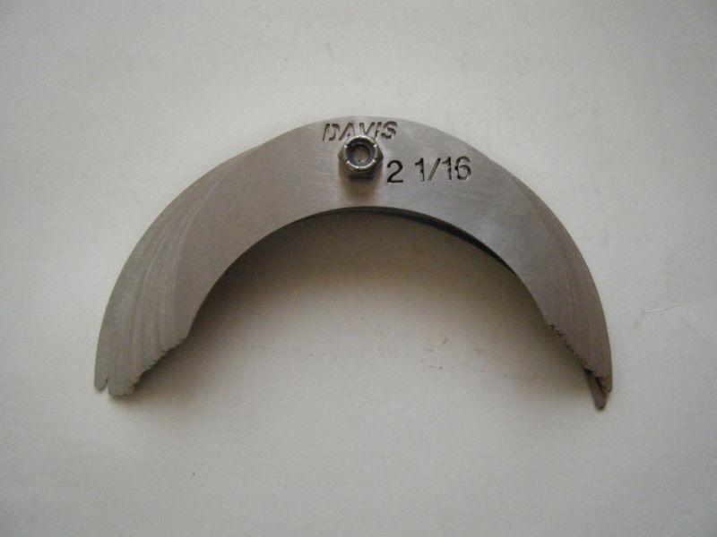 """DAVIS large radius gage set 16 sizes-2 1/16"""" to 3"""""""