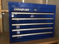 Snap on tool box & storage all comes as set.