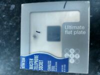 ultra slim master telephone socket stainless steel (Brand new in box)