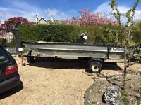 Aluminium boat with trailer