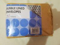 Bubble lined envelopes