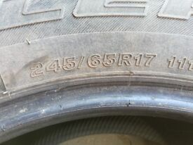 Tyres 245 / 65 / 17 for 4x4