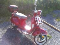 Lexmoto 125cc Automatic Scooter. Excellent condition less than two years old.