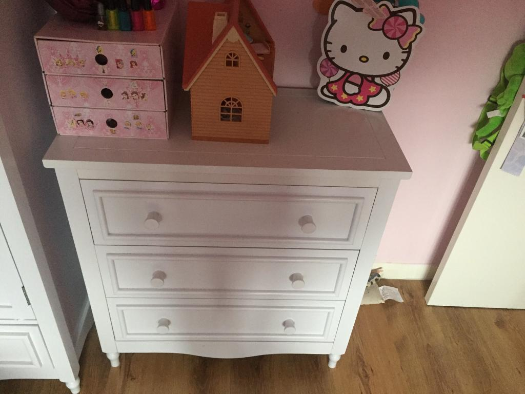 Kidspace Bedroom Furniture Kidspace Holly White Chest Of 3 Drawers In Bradwell Norfolk