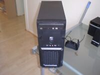 MICRO ATX PC TOWER SYSTEM. MANY NEW PARTS.