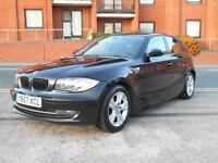 08 BMW 1 SERIES 118D SE + £30 TAX + DIESEL + FSH + 5 DOOR