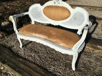 Antique French window seat