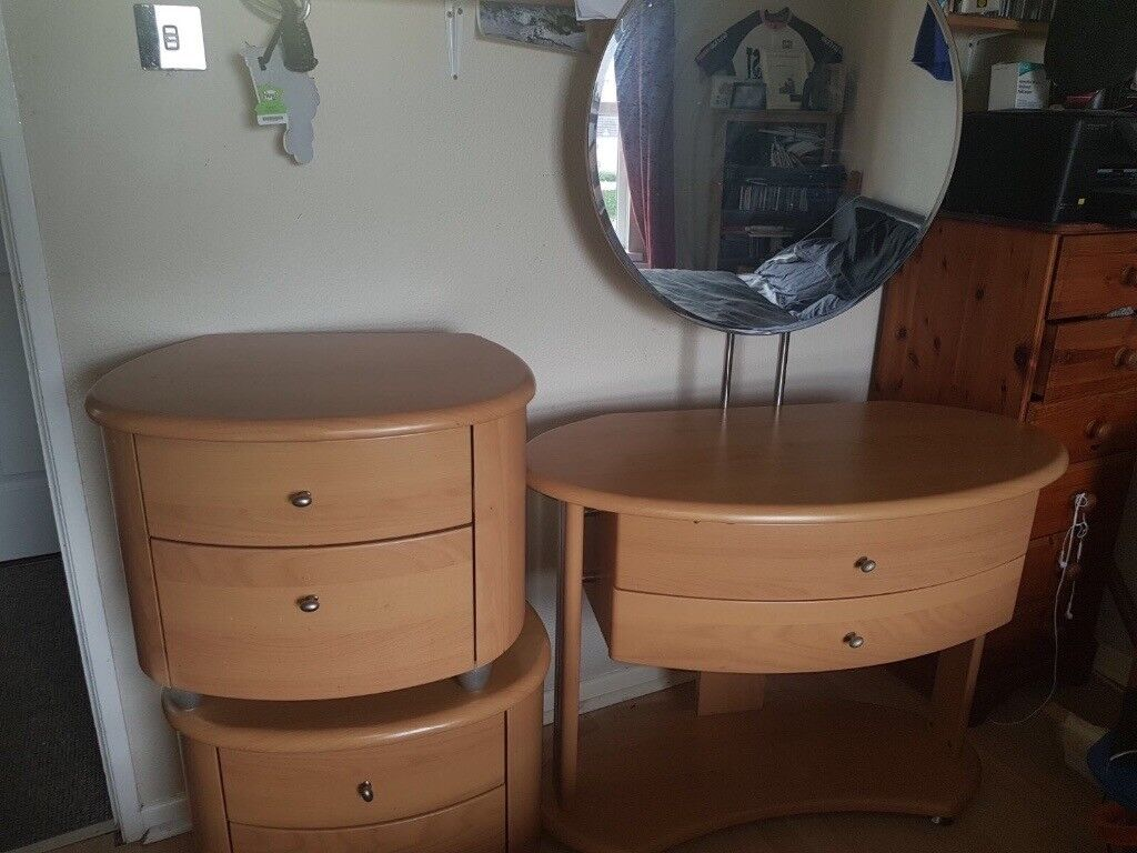Matching dressing table and bedside tables from Creations