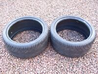 TWO 255 45 18 94W XL WANLI S-1088 TYRES WITH RIM PROTECTION GOOD CONDITION - 5mm