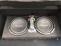 "Pioneer 12"" twin Subwoofer 3000 watts"