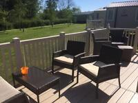 Prestige 3bed Caravan with decking at Kiln Park Tenby