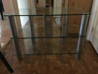 3 Shelve Glass TV Stand incl free TV Holder