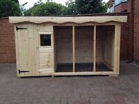 Brand new dog kennel and run