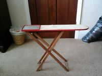 Antique Vintage Wooden Childs Folding Ironing Board