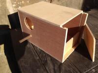 Ten budgie nest boxes £20