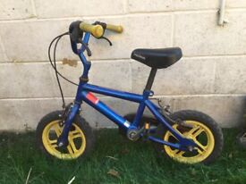 Kids first bike. In working order but needs back tyre pumping up