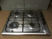 Stainless gas hob