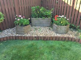 Planters - wooden heavy duty