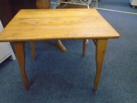 solid pine occasional table