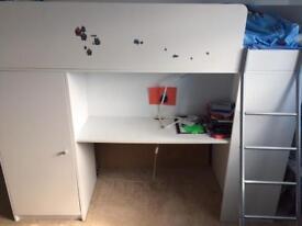 Kids children bed set/wardrobe