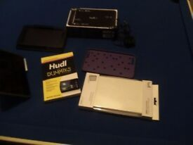 Hudl 2 with accessories.