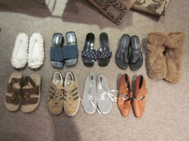 9 pairs of Womens shoes (size 3 - 5)