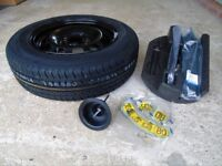 Ford Fiesta ,brand new spare wheel/tyre plus jack kit etc 7 months old never been used