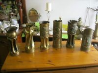COLLECTIBLE WW2 'TRENCH ART' VARIOUS DESIGNS. DATED 1940-5. VIEWING / DELIVERY AVAILABLE