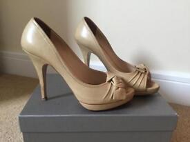 Prada Nude Open Toe High Heels Size 6.5