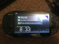Psvita with memory card and game