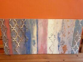 Moroccan lattice canvas