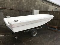 15ft deep dory and trailer