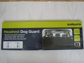 Sakura Headrest Dog Guard with fitting instructions (universal fit)