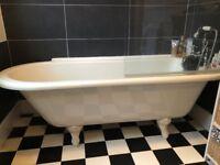Freestanding Bath, Mixer Tap, Shower, Screen and Sink