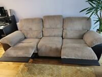 3 setter recliner sofa and one recliner arm chair for sale