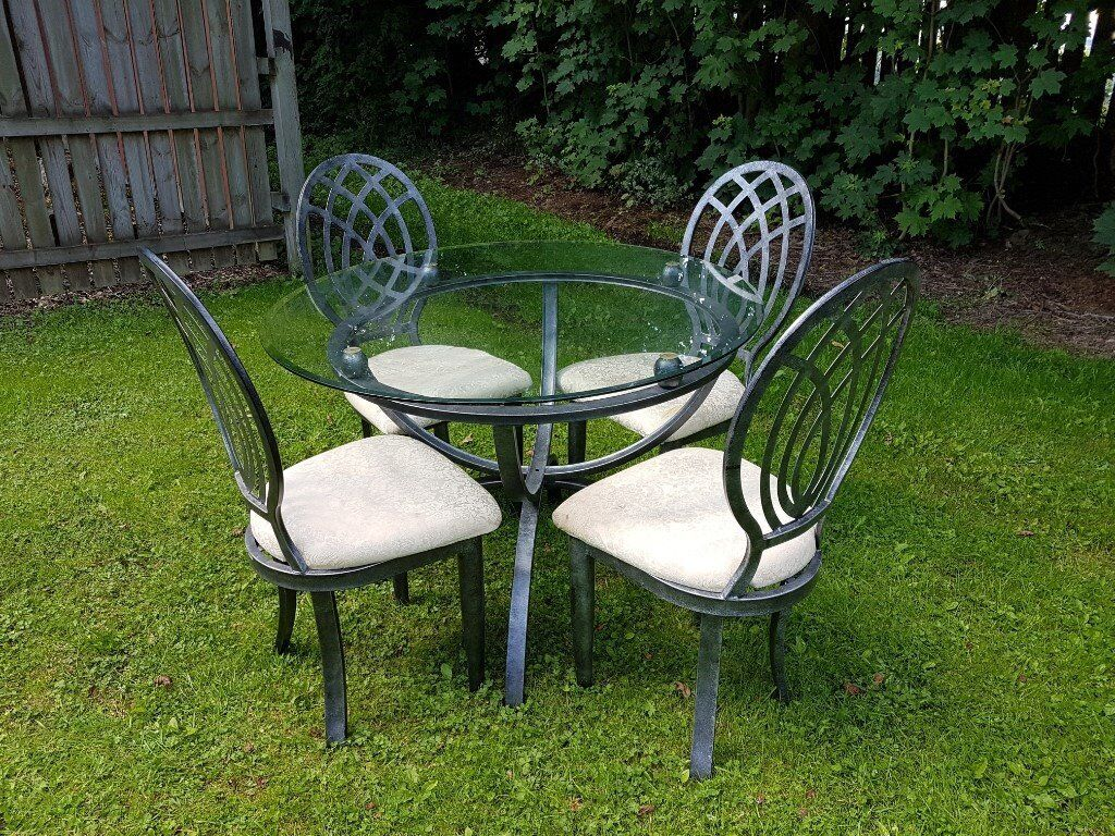 Glass Dining Table and 4 x Chairs