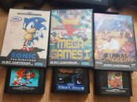 Games include sonic 1 & 2, Alladin, Rage, Mega Games 1 and Tale Spin