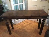 Console table - dark wood