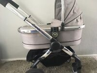 icandy peach Silvermint travel system