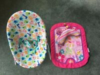 Baby Bouncer & Tummy Time Mat - Bright Starts - Excellent Clean Condition