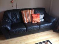 Black 3 seater sofa vgc