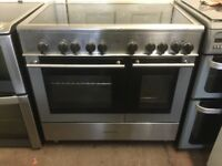 Kenwood range electric cooker 90cm stainless steel double oven 3 months warranty free local delivery