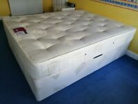 King Size Divan Bed with Medium Tension Orthopaedic Mattress – Excellent Condition, Like New