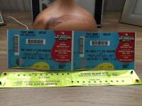 Big weekend Sunday tickets x2 including travel