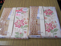 "2 pair of Prestbury Design fully lined curtains floral pattern size 64"" wide x 54"" brand new"