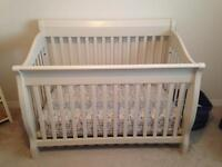 Beautiful Solid Wood Off-White Crib