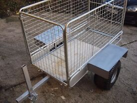 for sale full galvanized garden trailer new condition ready to use on farms or etc