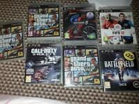ps3 bargin 7 game on disc and 5 on hd need gone